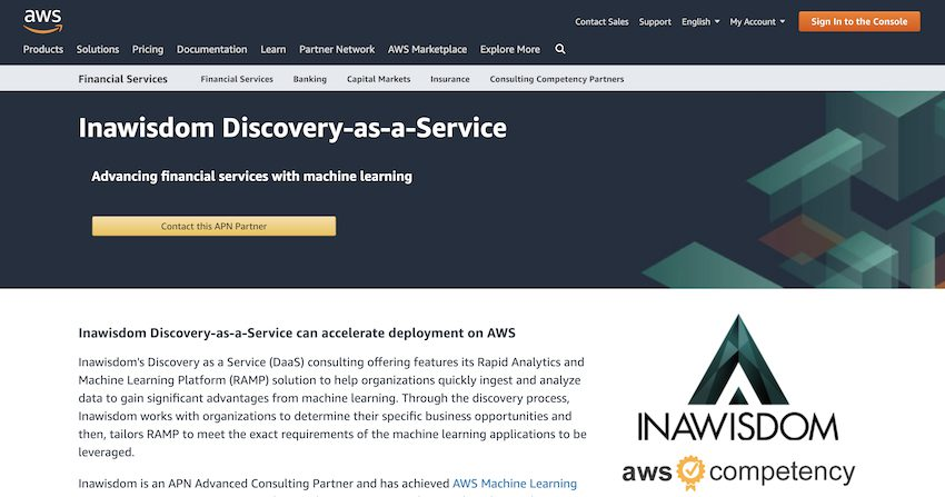 AWS FSI Solution Space page image